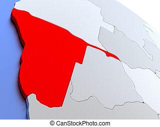 Namibia on world map