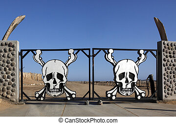 namibia, parque nacional, costa de esqueleto