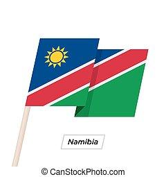 Namibia Ribbon Waving Flag Isolated on White. Vector ...
