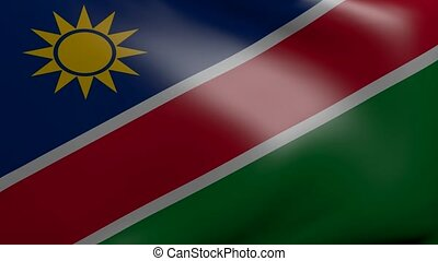namibia strong wind flag
