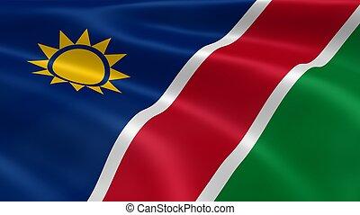 namibian, bandeira, vento