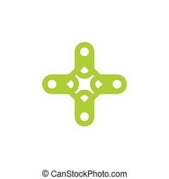 namn, logo, symbol, vektor, plus, etikett, medicinsk