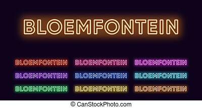 namn, text, rubriken, neon, sätta, bloemfontein, syd, ...