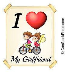 namorada, amor, meu