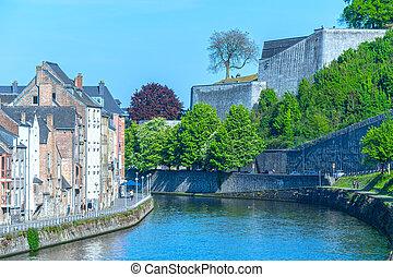 Namur, city in Belgium by river Sambre, Walloon region