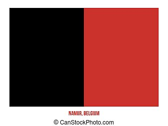 Namur Flag Vector Illustration on White Background. Provinces Flags of Belgium.