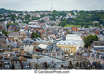 Namur skyline, Wallonia, Belgium. - Namur skyline, in the ...