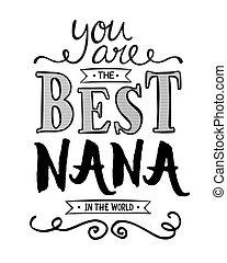 nana, 世界, あなた, 最も良く