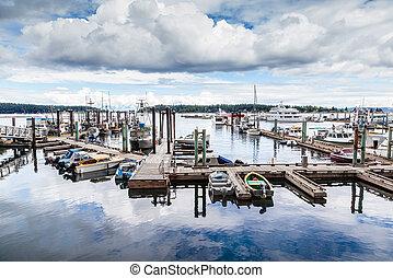 Nanaimo Harbor on Vancouver Island, BC, Canada - Colorful ...
