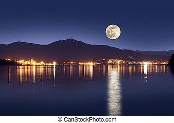 Nanaimo in the night - Nanaimo, British Columbia, Canada