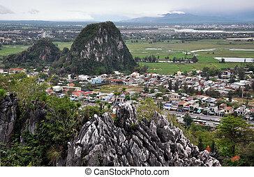 nang, montañas, mármol, da, vietnam