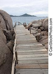 Nang-Yuan Wood Bridge at the south of Thailand