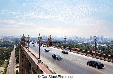 Nanjing, China - Nanjing, Yangtze River Bridge, built in...
