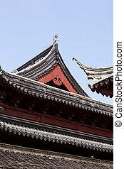 Nanjing, China - Detail of Confucio's temple in Nanjing,...