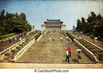 Nanjing, China - Nanjing, China. Chinese temple in Nanjing,...