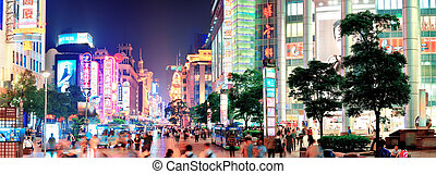 Nanjing Road in Shanghai - SHANGHAI, CHINA - MAY 28: Nanjing...