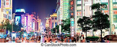 nanjing, strada, in, sciangai