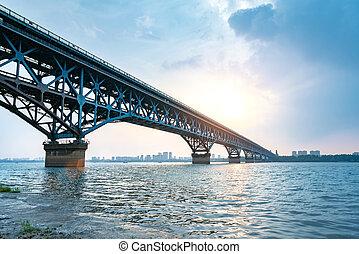 nanjing, yangtze rzeka, most