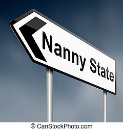 Nanny state concept. - Illustration depicting a road traffic...