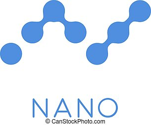 Nano Cryptocurrency Coin Sign Isolated