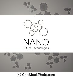 nano logo - Nano logo - nanotechnology. Template design of...