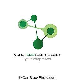 Nano logo - nanotechnology. Template design of logo. Vector...