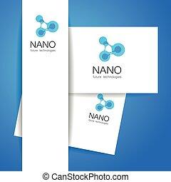 nano logo - Nano logo - nanotechnology. Template design of...