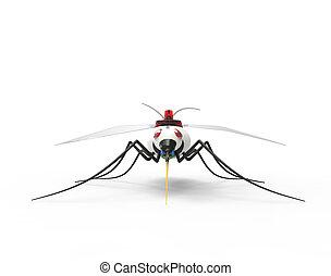 nano, robots, futuriste, moustique