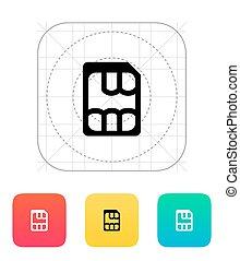 Nano SIM icon. Vector illustration.