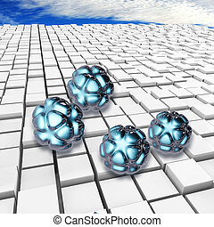 Nanoparticles - 3d rendered illustration