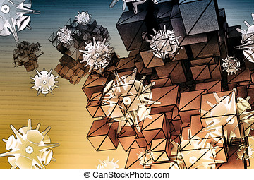 Nanoparticles - Nanocarriers - Abstract Illustration