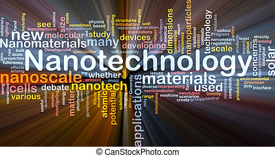 nanotechnology, 概念, 白熱, 背景