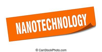 nanotechnology, peeler, segno., sticker., quadrato,...