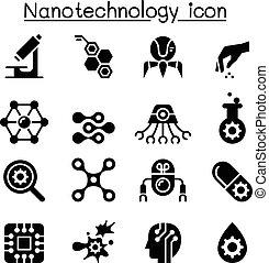 nanotechnology, satz, ikone