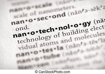 "Nanotechnology - Selective focus on the word ""nanotechnology..."