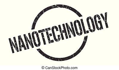 nanotechnology stamp - nanotechnology black round stamp