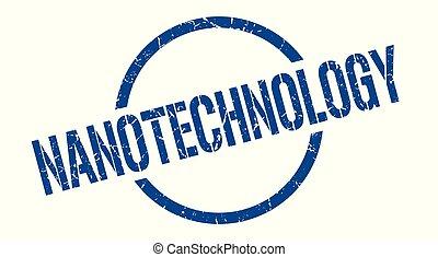nanotechnology stamp - nanotechnology blue round stamp