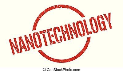 nanotechnology stamp - nanotechnology red round stamp