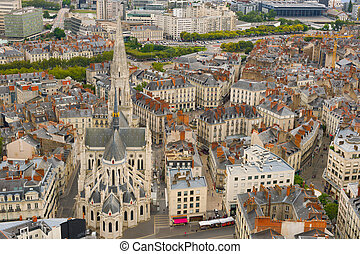 Nantes ina summer day - Cityscape of Nantes in a summer day