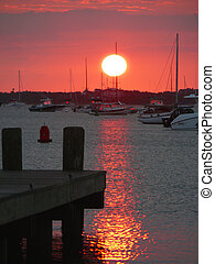 Nantucket Sunrise - Nantucket sunrise on the marina