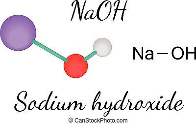 NaOH sodium hydroxide molecule - NaOH sodium hydroxide 3d...