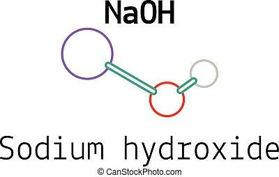 NaOH sodium hydroxide molecule