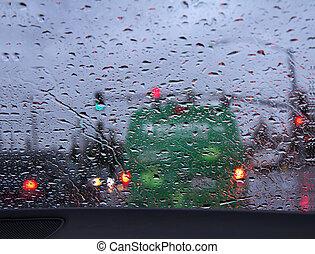 napędowy, deszcz