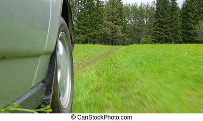 napędowy, rolna droga, pole