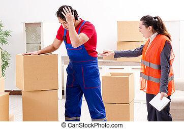napędy, profesjonalny, przemieszczenie, dom