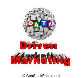 napędzany, handel, pojęcie, dane, 3d