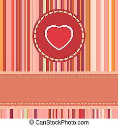 nap, 8, kártya, csinos, eps, valentine's, heart.