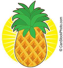 nap, ananász