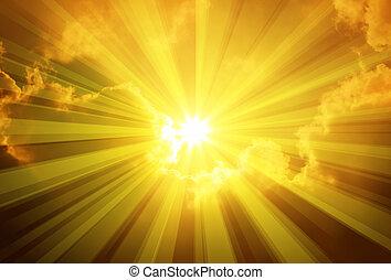 nap, elhomályosul, ég