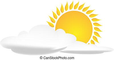 nap, felhő